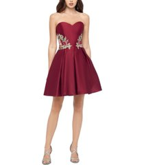 blondie nites juniors' sweetheart applique dress