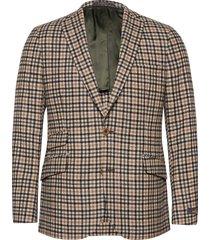 antonio checked jacket blazer colbert beige morris