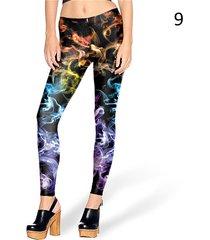new fashion women leggings 3d printed color legins ray fluorescence leggins