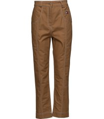 cotton workwear pan slimfit broek skinny broek bruin hilfiger collection