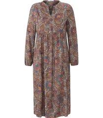 jurk lange mouwen en ornamentprint van emilia lay multicolour