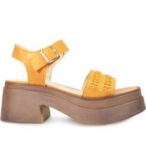 sandalia de cuero naranja vemmas zelda