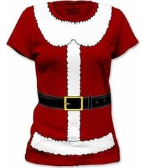mrs santa claus christmas holidays toys red costume outfit juniors t shirt s-xl
