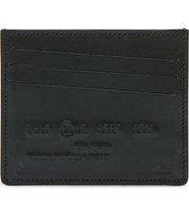 credit card number embossed card holder black