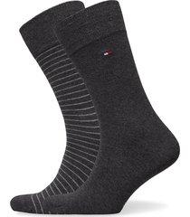 th men small stripe sock 2p underwear socks regular socks svart tommy hilfiger