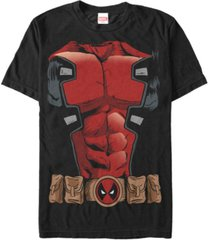 marvel men's deadpool chest costume short sleeve t-shirt