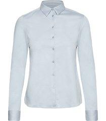 tina jersey shirt overhemd met lange mouwen blauw mos mosh