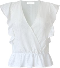 bcbgeneration cropped ruffled top