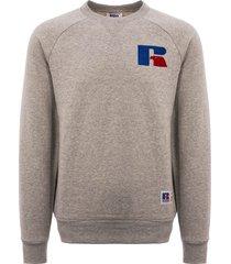 russell athletic crew neck sweatshirt - steel marl pc86022-324