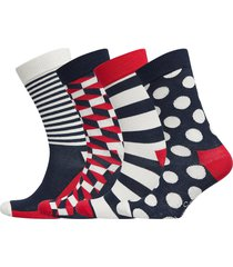 4-pack classic navy socks gift set underwear socks regular socks multi/mönstrad happy socks