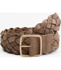 mango women's braided leather belt