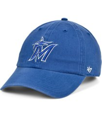'47 brand miami marlins timber blue clean up cap