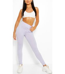 basic high waist ankle grazer legging, lilac