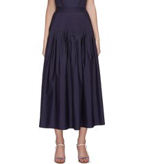 'camelia' pleated maxi skirt