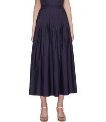 'camelia' pleated maxi skirt