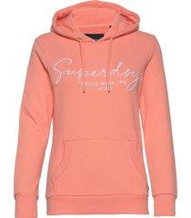 alice script emb entry hood ub hoodie trui roze superdry