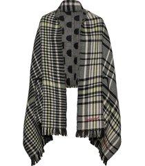 poncho monogram reversibl poncho regnkläder svart desigual accessories