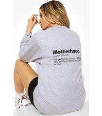 zwangerschap 'motherhood' sweater, grey marl