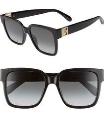 women's givenchy 53mm square sunglasses - black/ dk grey gradient