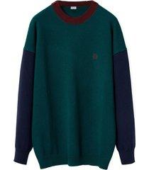 loewe crewneck colour block sweater