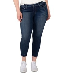 silver jeans co. trendy plus size elyse cropped skinny jeans