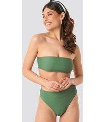 na-kd swimwear maxi high waist bikini panty - green