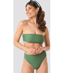 na-kd swimwear maxi highwaist bikini panty - green