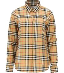 burberry crow vintage check shirt