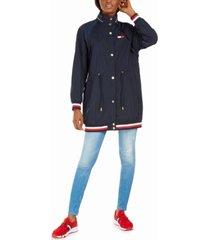 tommy hilfiger hooded drawstring-waist jacket