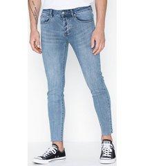 sixth june denim basic 7/8 jeans blå