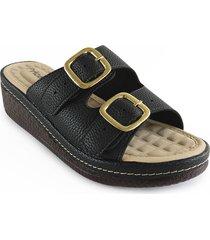 sandalia casual tipo confort para dama color negro 6922287negro