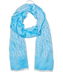 calvin klein chambray ck border scarf