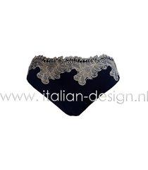 ambra lingerie slips titanium slip m 1432d blauw