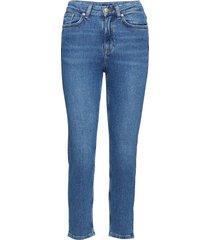 o2. slim cropped hw denim jeans rechte jeans blauw gant