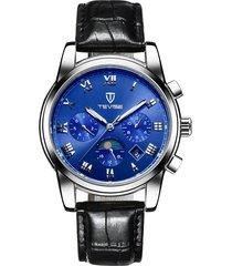 reloj mecánico de seis pines multifuncional reloj-azul