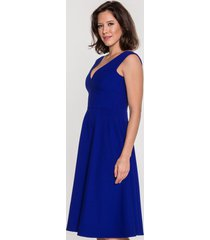 kobaltowa sukienka rozkloszowana adrianna