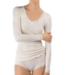 calida richesse lace long-sleeve top * gratis verzending *