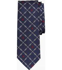 corbata nautical knots and fleece azul brooks brothers