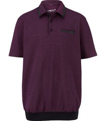 poloshirt men plus fuchsia::zwart