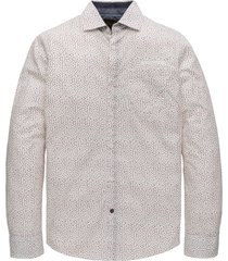 pme legend psi208220 7072 long sleeve shirt all-over print on poplin fabric bright white