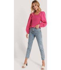 trendyol mom-jeans med hög midja - blue