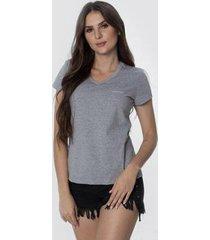t-shirt osmoze z 602110167 cinza - cinza - p - feminino