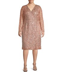 plus embellished wrap dress