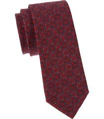gancini-print wool tie