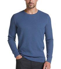 joe joseph abboud blue slim fit crew neck sweater