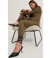 na-kd shoes stilettpumps med snörning och lutande klack - black