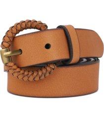 frye women's 32mm woven-buckle leather belt
