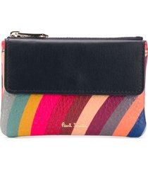paul smith swirl print wallet - pink