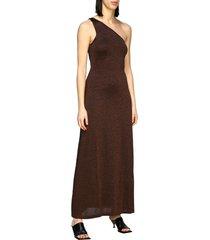 missoni dress long missoni one-shoulder lurex jacquard dress
