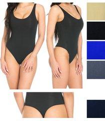 women slim seamless spandex bodysuit shapewear underwear leotard bodycon thong